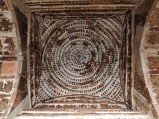 A circular pattern in a square roof patter (Interior view)