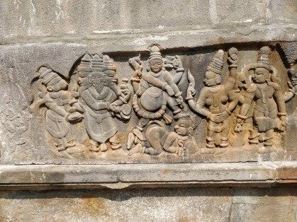 Dasaavatara depicted around the temple